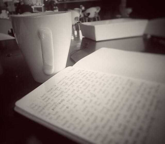 Coffee and a journal.
